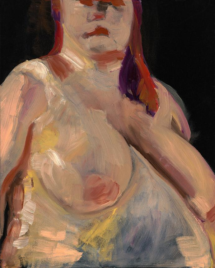 Woman Torso. Oil on canvas, 20x16in - 50x40cm. Fig. 033