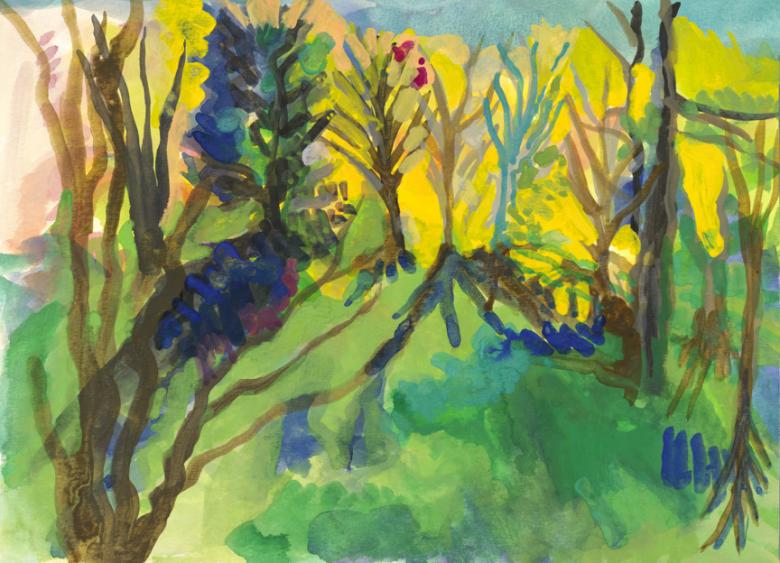 Landscape in Homestead. Gouache on high quality acid-free art paper, 509x12.3in - 22.5x31.5cm. Fig. 036