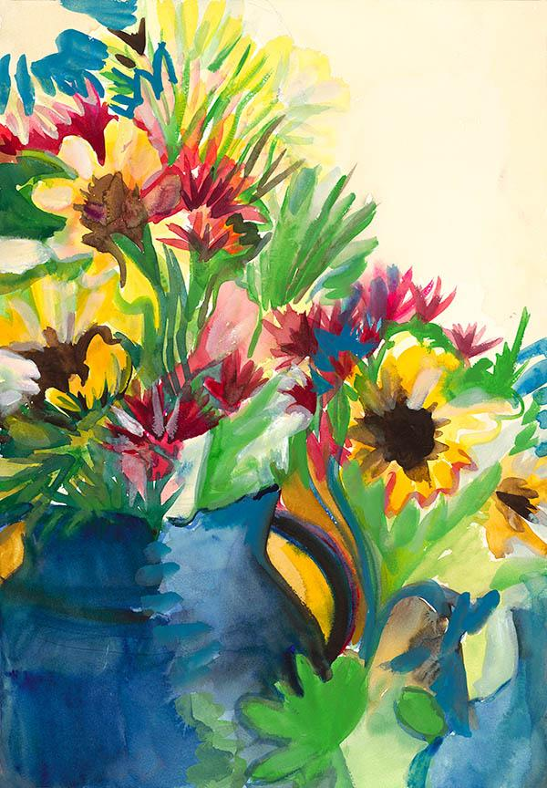 Flowers Studio. Watercolor on quality acid-free art paper, 20x13.8in- 50.7x35.4. Fig. 100