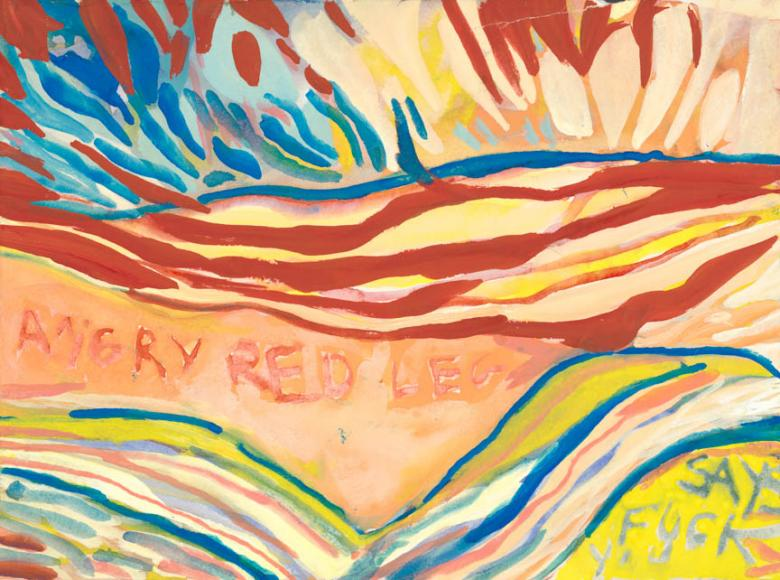 Angry Red Legs. Gouache on high quality acid-free art paper, 9x12in-22.5x30.5cm. Fig. 194