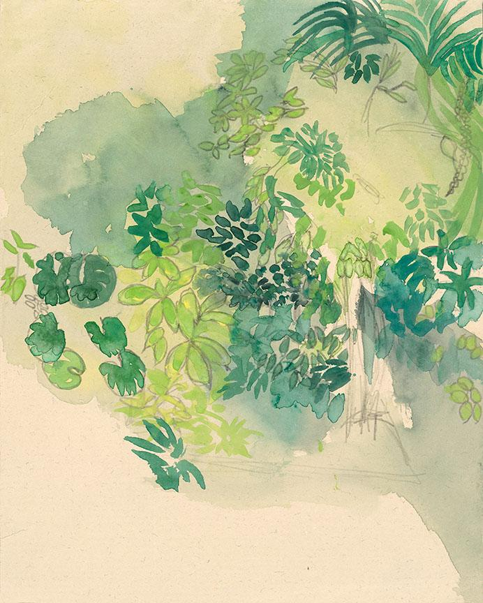 Watercolor on quality acid-free art paper, 9.3x11.7in - 24x30cm. Fig. 264