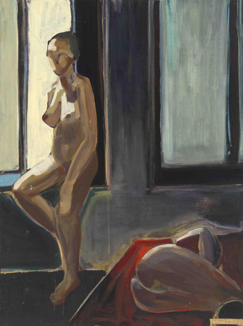 Woman at the Window.  Acrylic on wood, 48x36 in - 121.5x91 cm. Fig. 003