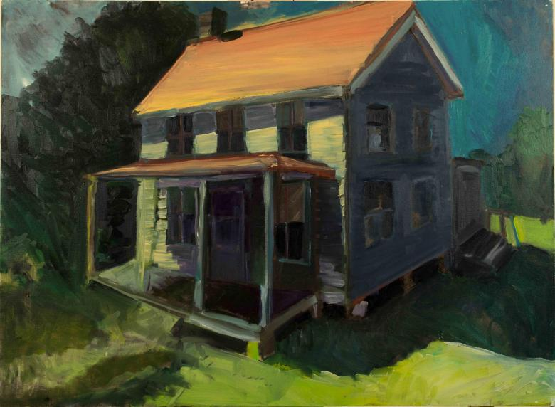 House in Tilghman Island. Oil  on canvas, 22x30in- 55.5x76cm. Fig. 037