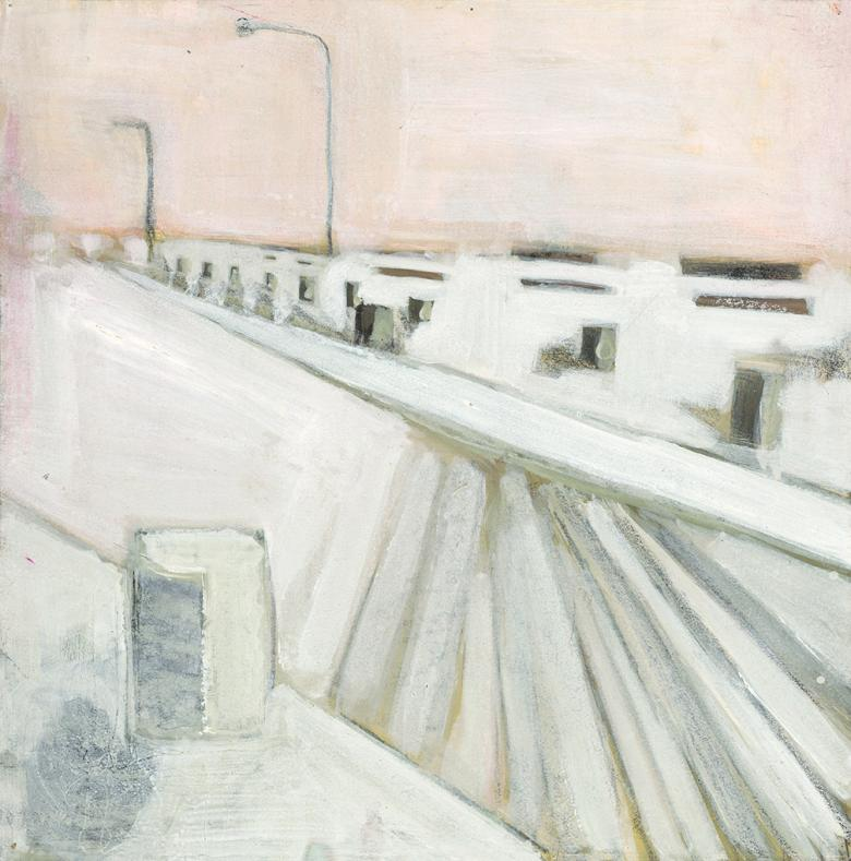 City. Acrylic on arches paper, 16x15.7in - 40.5x40cm. Fig. 101