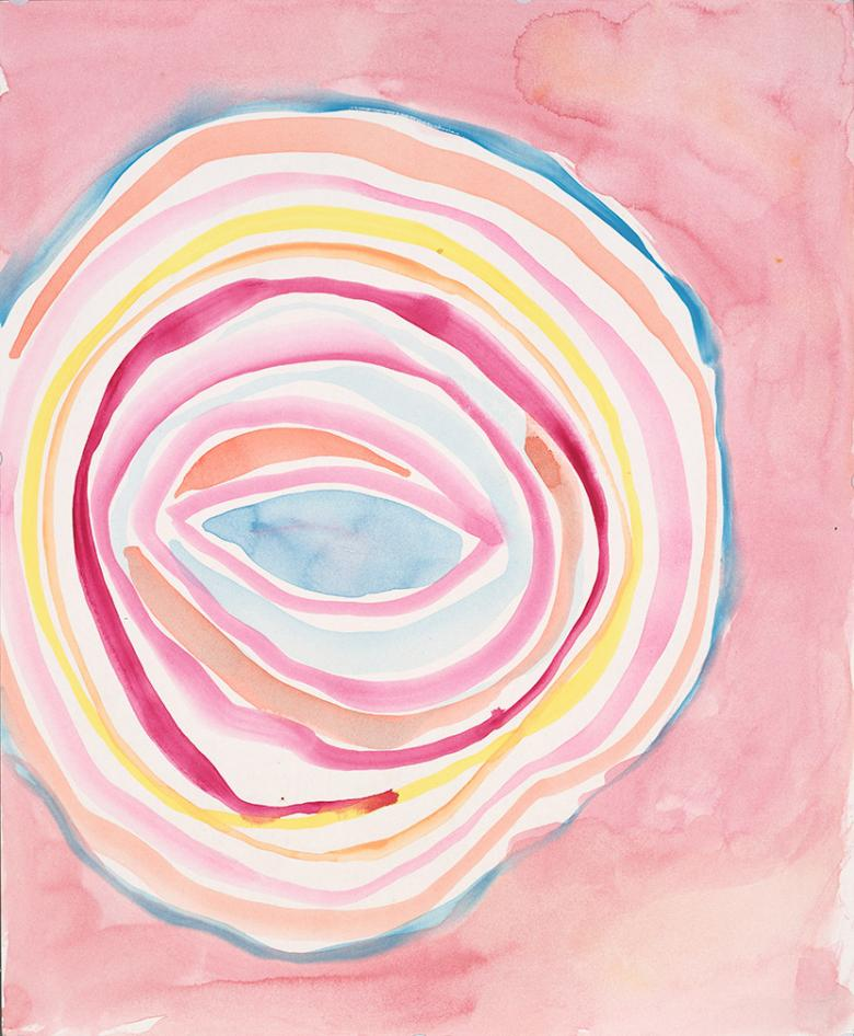 Circles. Watercolor on high quality acid-free art paper, 14x17in - 35.5x43cm. Fig. 114