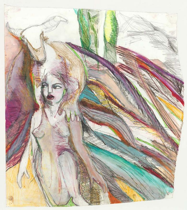 Dionysus. Pastel and pencil on high quality acid-free art paper, 17.3x15.5in - 44.5x39. Fig. 119