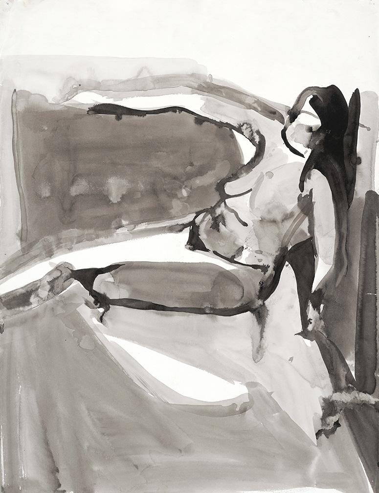 Woman on Repose. Ink on high quality acid-free art paper, 30x23in - 76x58.5cm. Fig. 128