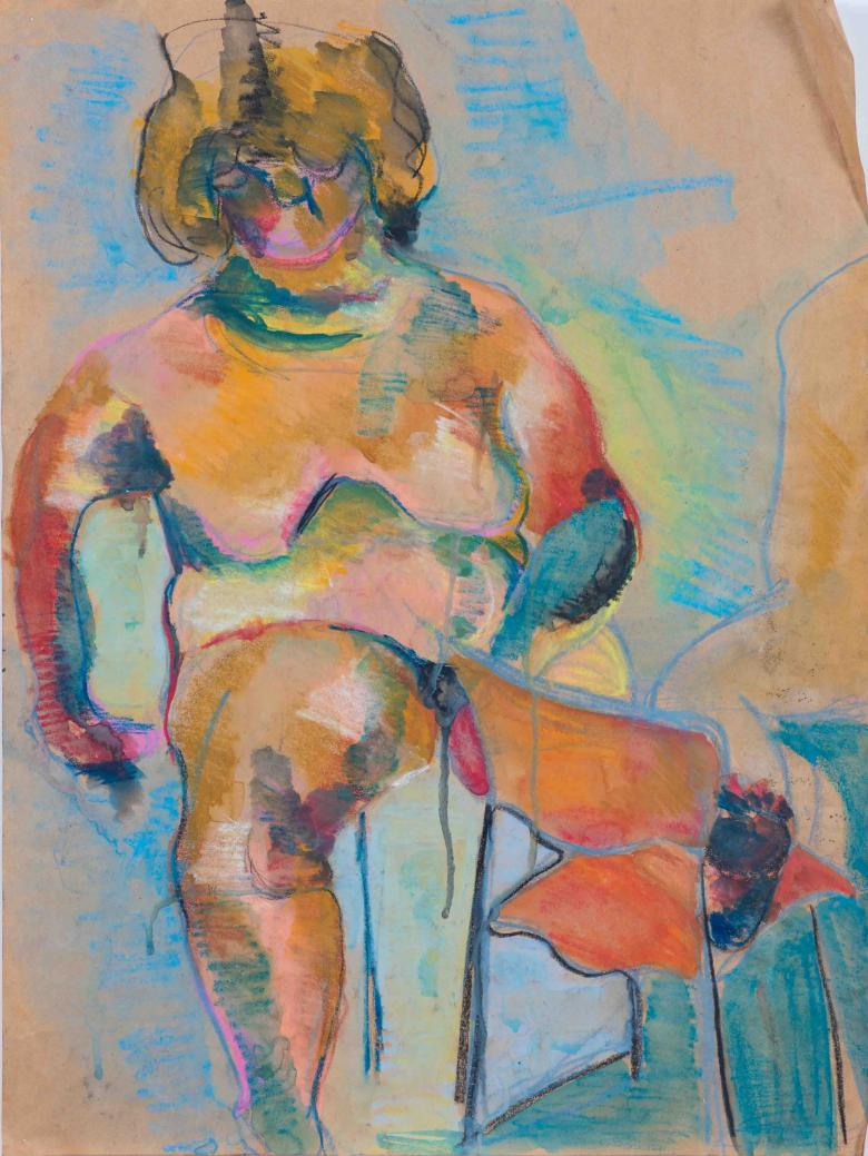 Seated Man. Pastel on paper, 24x18in- 60.5x45.5cm. Fig. 155
