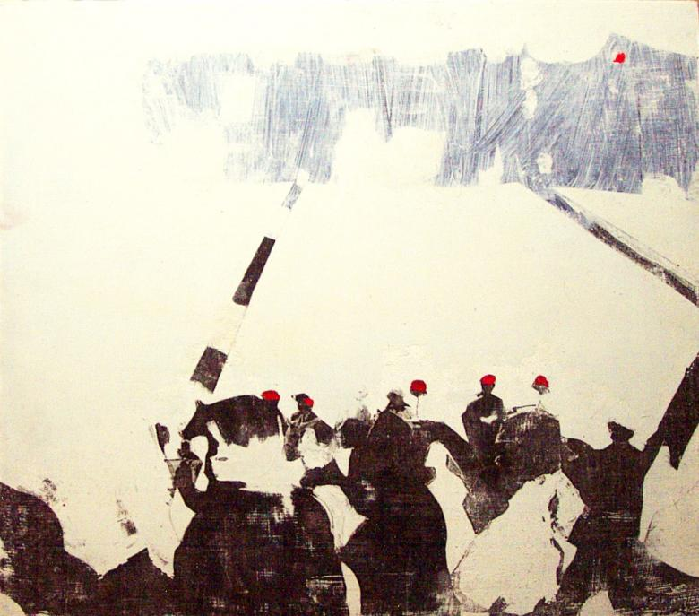 Demonstration. Acrylic and sumi ink, Xerox transfer. Fig. 291