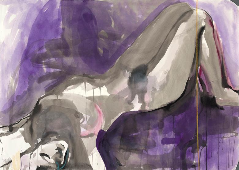 Woman in Violet. Ink on high quality acid-free art paper, 29.5x41.5in - 75x105cm. Fig. 309