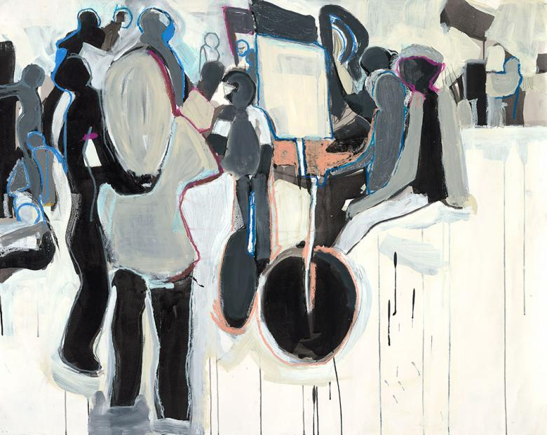 Crowd. Mixed media on high quality cotton paper, 38.5x48in - 97.5x121.5cm. Fig. 312