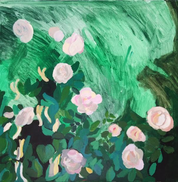 Roses. Acrylic on canvas, 20x20in - 50.8x50.8cm. Fig. 344