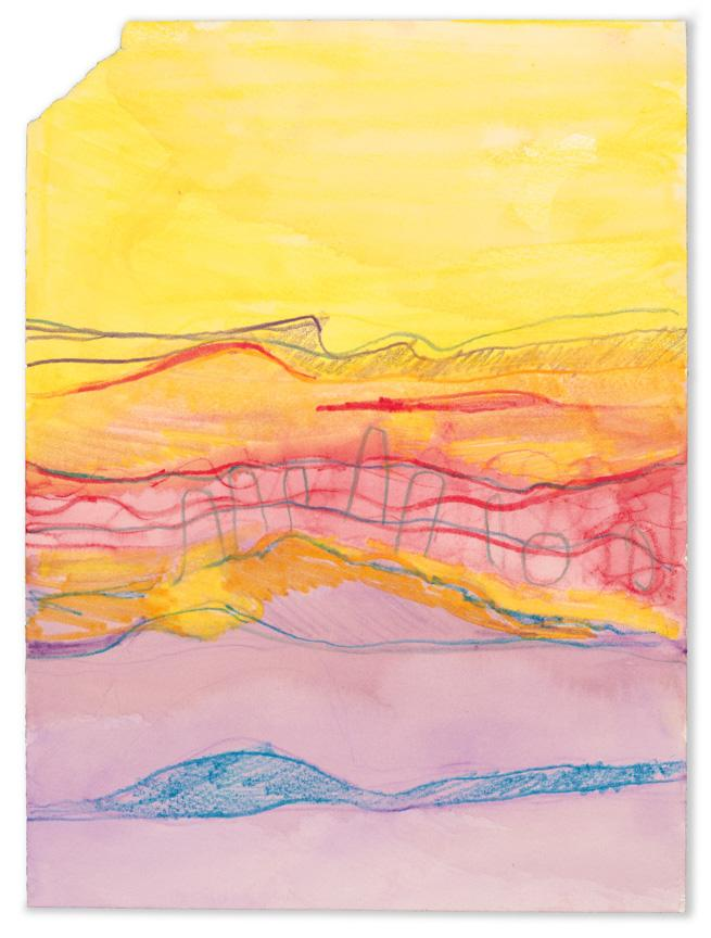 Waves in Yellow. Watercolor and pencil on paper, 2x9in - 30.5x22.5cm. Fig. 107