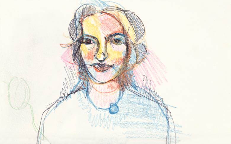 Carmen. Pencil and markers on paper,  5x8in - 13x20.5cm. Fig. 149