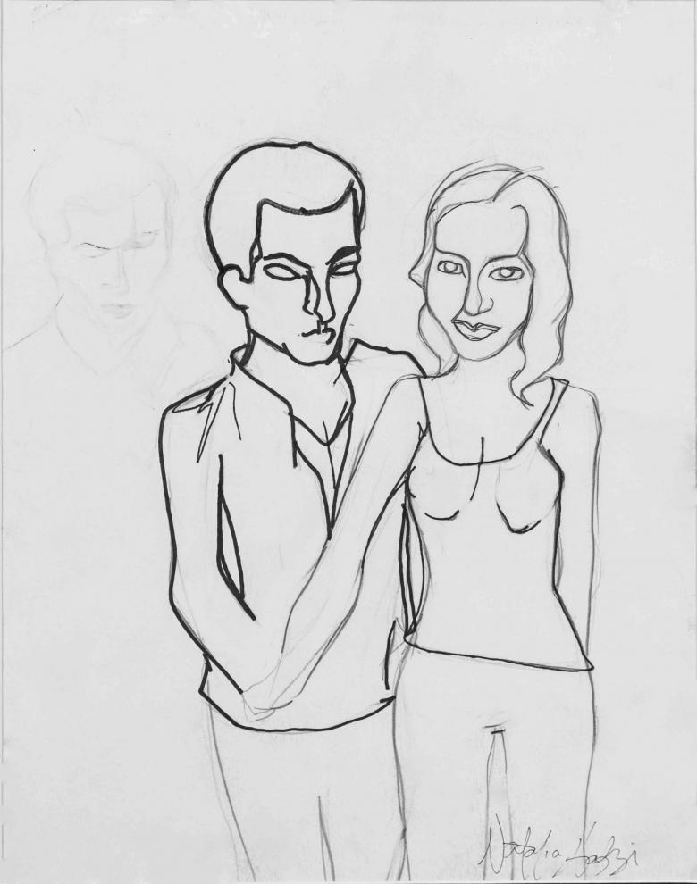 Ariane's Parents. Pencil on paper,14x11in - 35x27.5cm. Fig. 076
