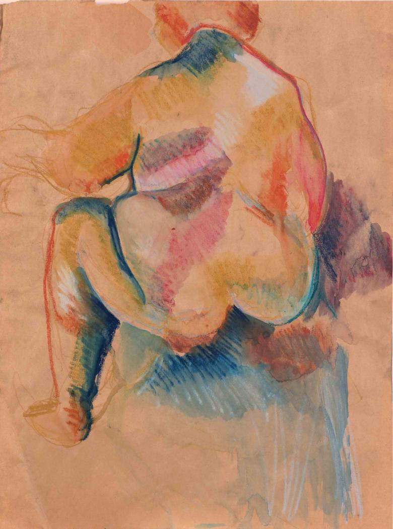 Woman Back. Pastel on paper, 24x18in- 60.5x45.5cm. Fig. 157