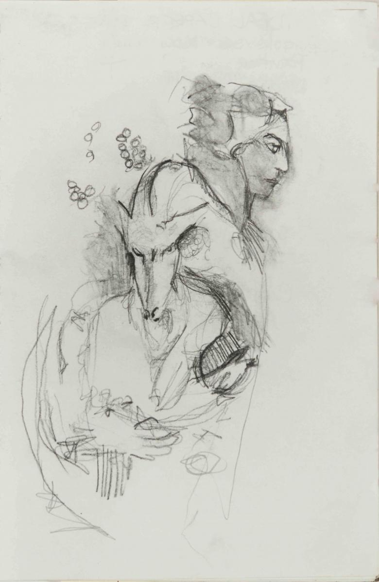 Pencil on paper, 10x6.5in - 25x16.5cm. Fig. 210
