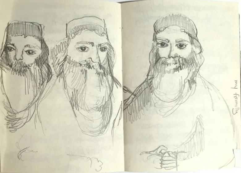My Family, 2009.  Pencil  on paper, 6.5x 4.7in - 14.5x12 cm. Fig. 279